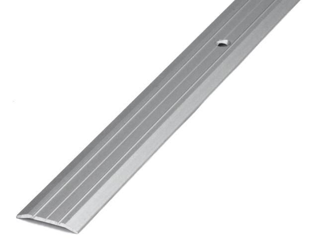 Стыкоперекрывающие алюминиевые пороги с отверстиями